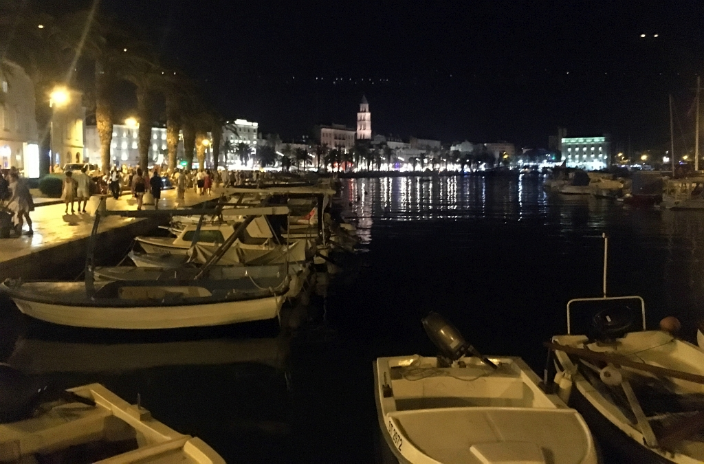 Split Croatia Riva Night