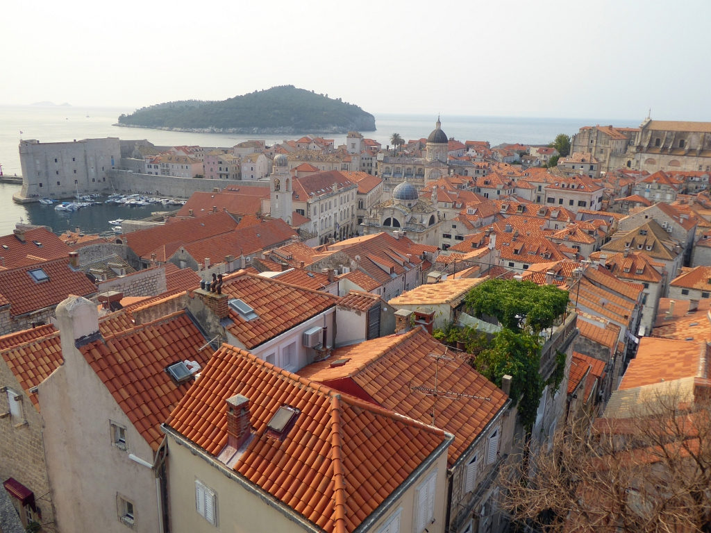 Dubrovnik City Walls Rooftops