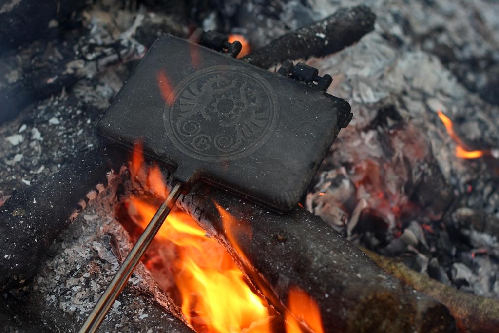 Petromax Camping Fire Waffle Iron