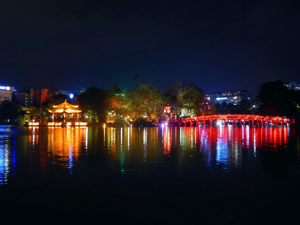Hanoi Lake At Night
