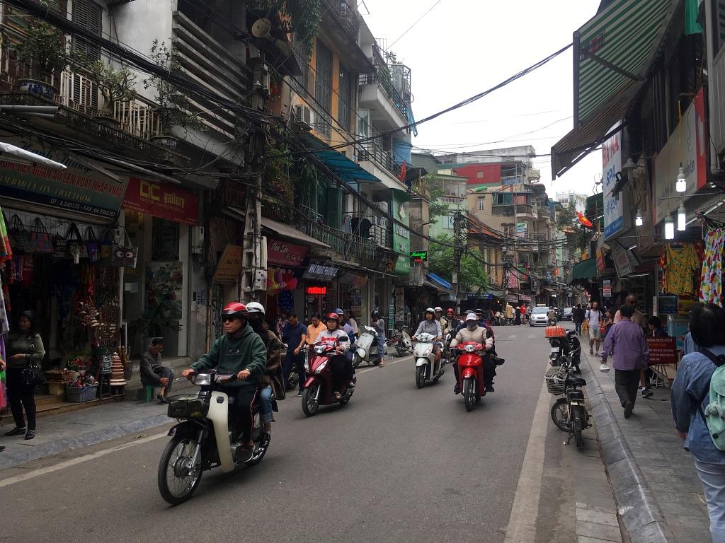 Hanoi Motorbikes Road
