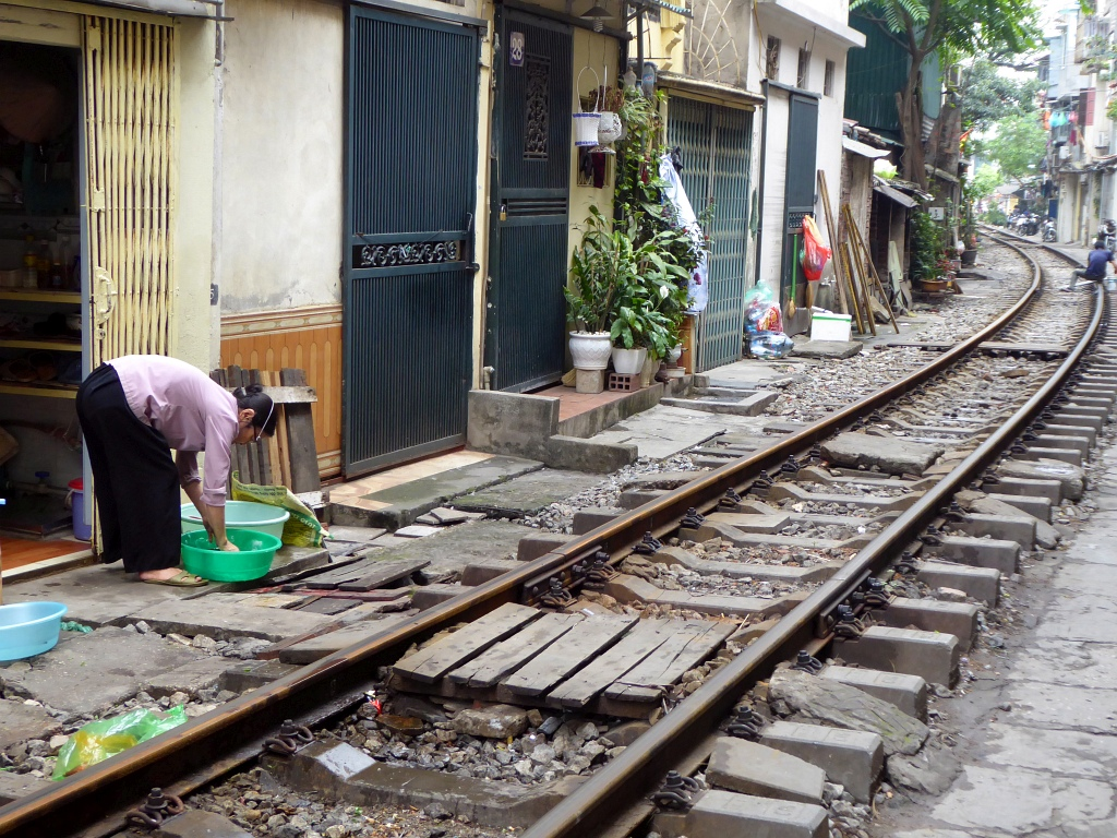Hanoi Train Street Tracks