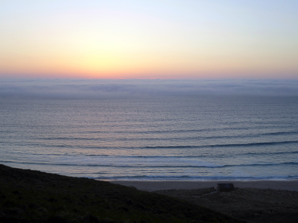 Cornwall Sennen Beach Sunset