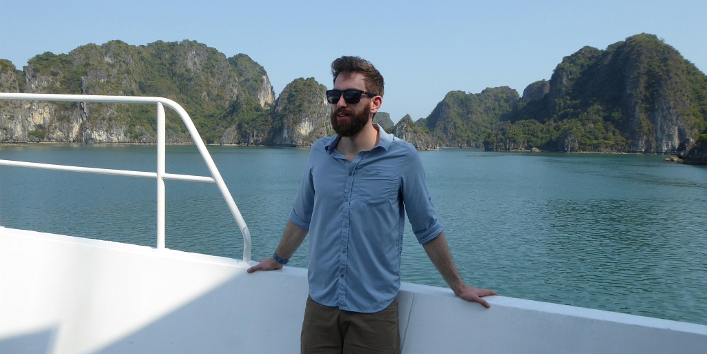 Craghopper Blue Shirt Vietnam Boat