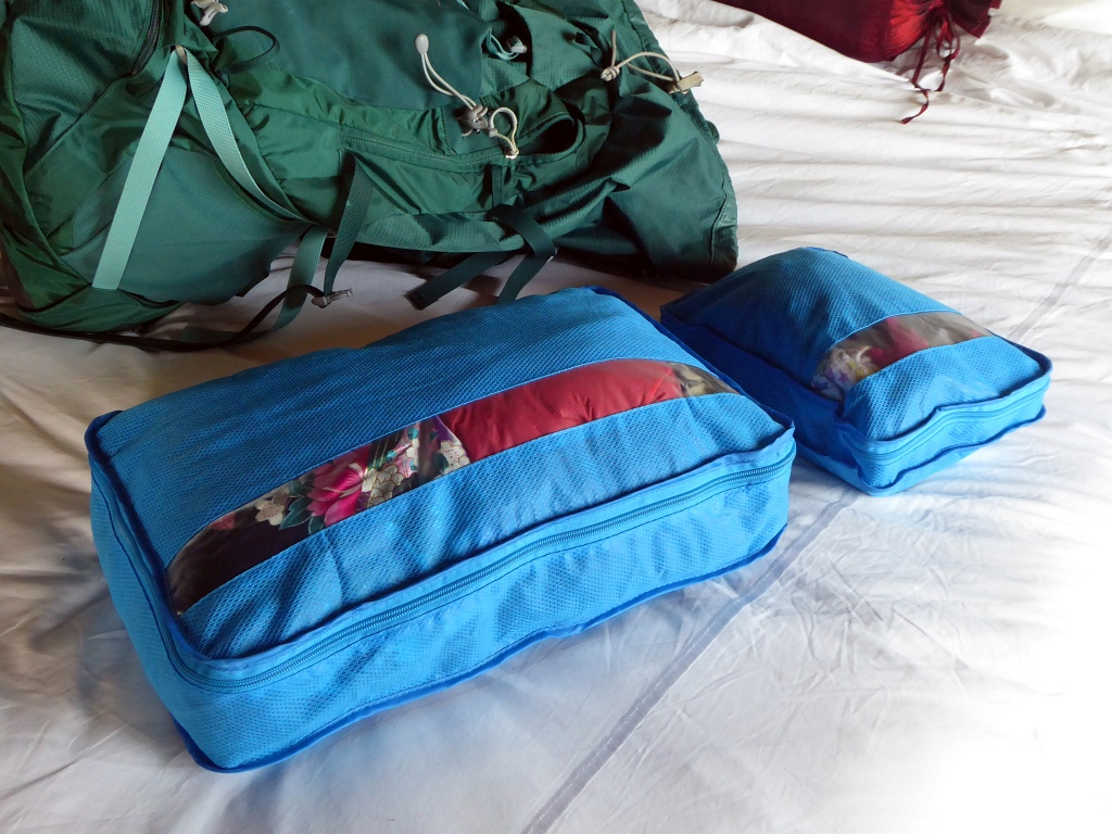 Go Travel Packing Cubes Blue
