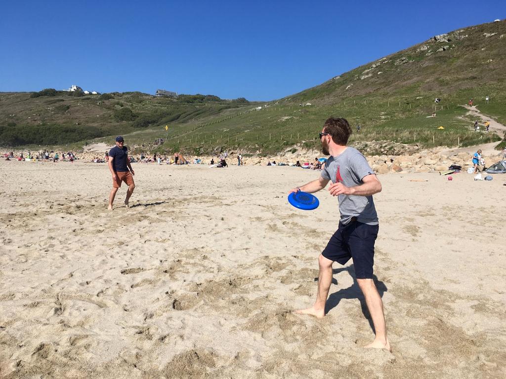 Gwenver Beach Frisbee