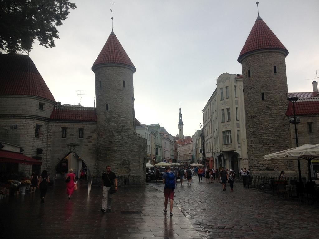 Tallinn Old Walls Tower Rain